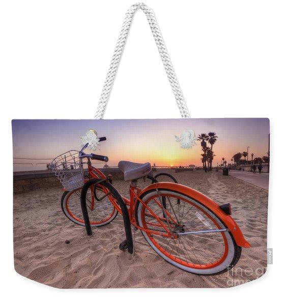 Beach Bike Weekender Tote Bag