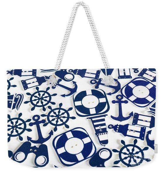 Beach Blue Background Weekender Tote Bag