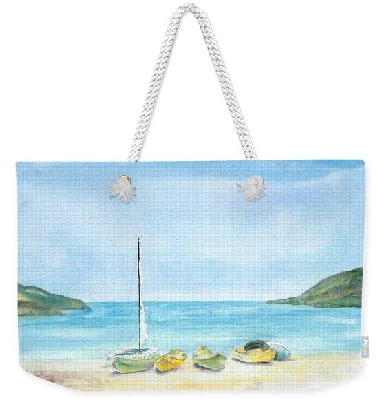 Beach Boats Weekender Tote Bag