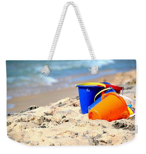 Beach Buckets Weekender Tote Bag
