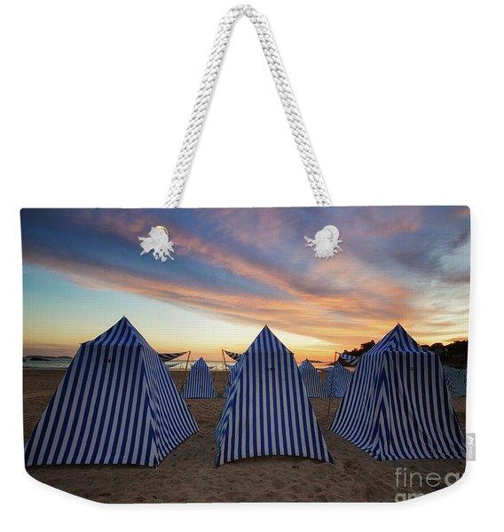 Beach Cabins Weekender Tote Bag