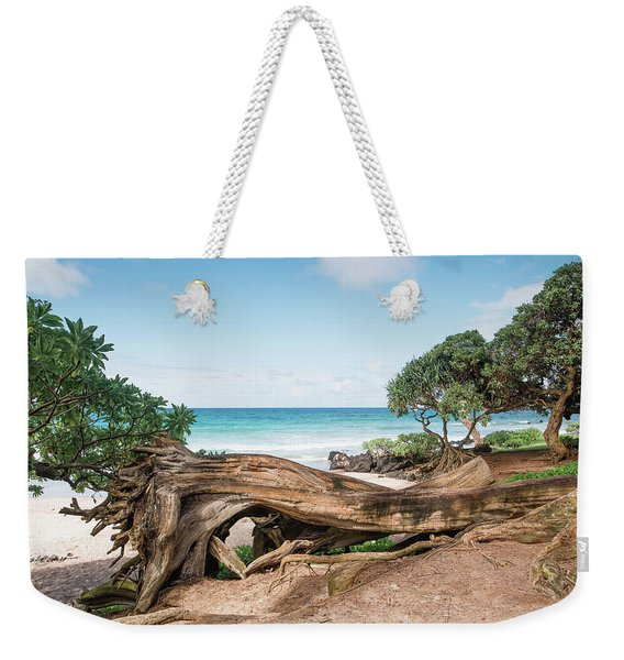 Weekender Tote Bag featuring the photograph Beach Camping by Break The Silhouette