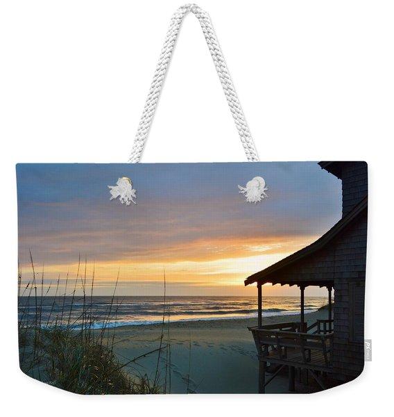 Beach Cottage Sunrise  Weekender Tote Bag