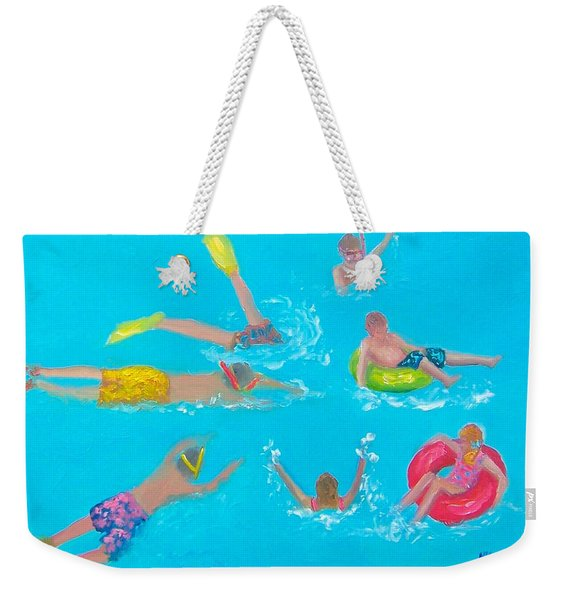 Beach Decor 'holiday Splash' By Jan Matson Weekender Tote Bag