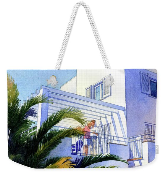 Beach House At Figueres Weekender Tote Bag