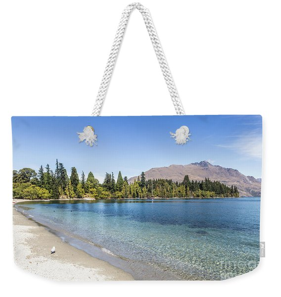 Beach In Queenstown, New Zealand Weekender Tote Bag