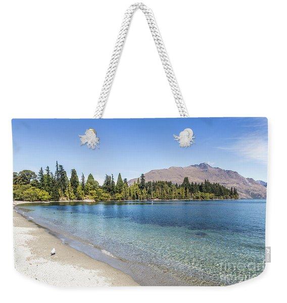Beach In Queenstown, New Zealand Weekender Tote Bag