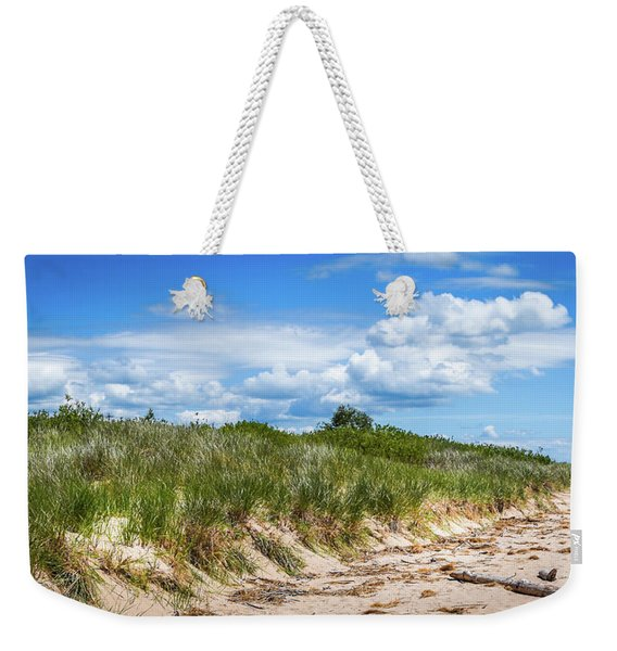 Weekender Tote Bag featuring the photograph Beach  by Lester Plank