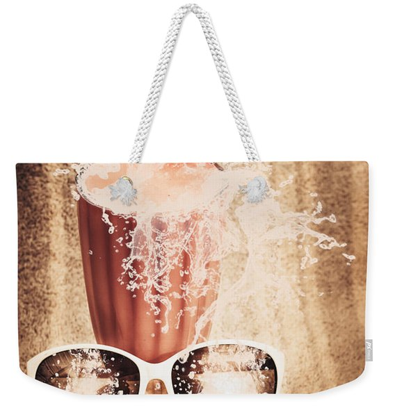 Beach Milkshake With A Strawberry Splash Weekender Tote Bag