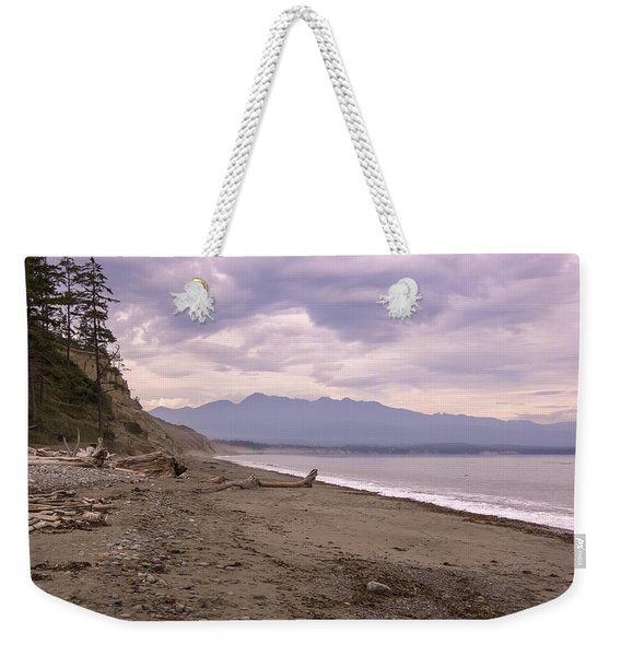 Beach On Dungeness Spit Weekender Tote Bag