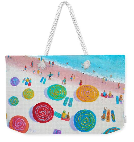 Beach Painting - A Walk In The Sun Weekender Tote Bag