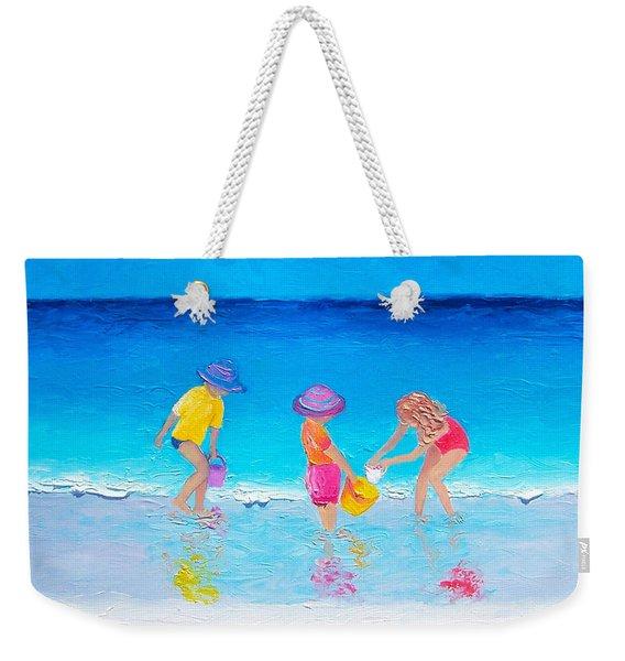 Beach Painting - Water Play  Weekender Tote Bag