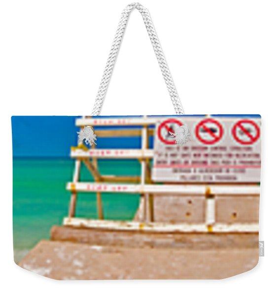 Beach Panorama Weekender Tote Bag
