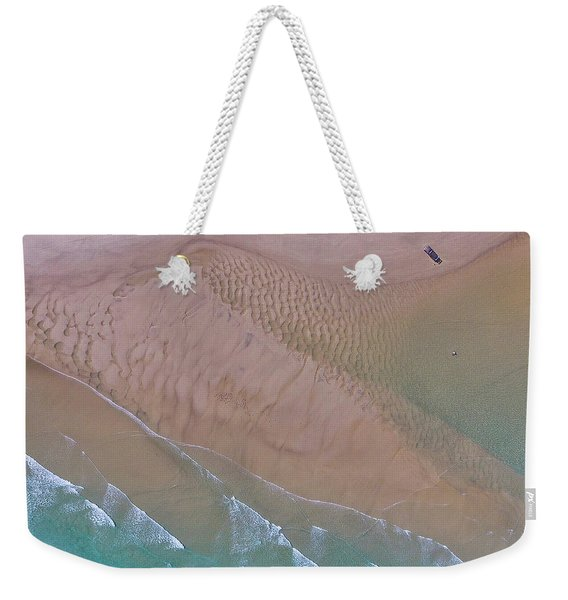 Beach Patterns At North Point On Moreton Island Weekender Tote Bag