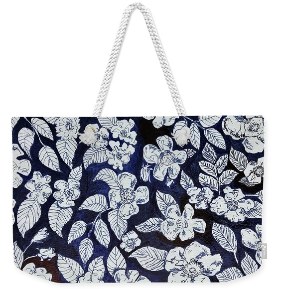 Beach Rose Pattern Weekender Tote Bag