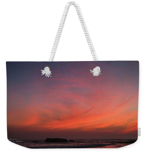 Beach Sky Blaze Weekender Tote Bag