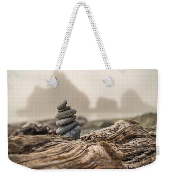 Beach Stack Weekender Tote Bag
