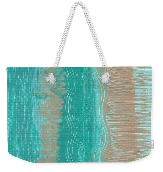 Beach Stripes  Weekender Tote Bag