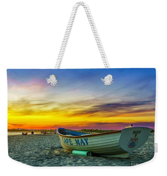 Beach Sunset In Cape May Weekender Tote Bag