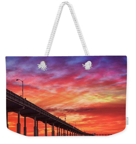 Beach Sunset Ocean Wall Art San Diego Artwork Weekender Tote Bag