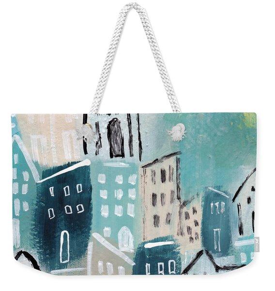 Beach Town- Art By Linda Woods Weekender Tote Bag