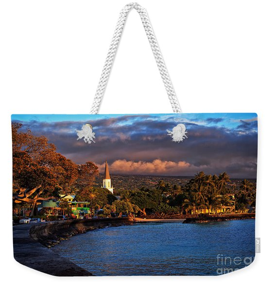 Weekender Tote Bag featuring the photograph Beach Town Of Kailua-kona On The Big Island Of Hawaii by Sam Antonio Photography