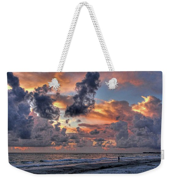Beach Walk - Florida Seascape Weekender Tote Bag