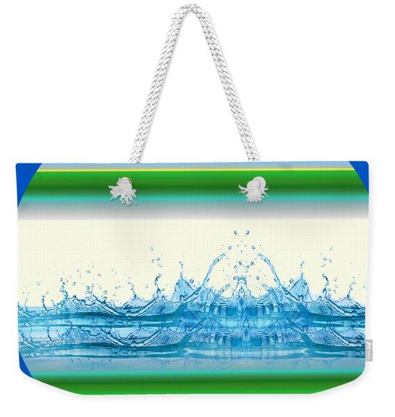 Beach Water Splash Weekender Tote Bag