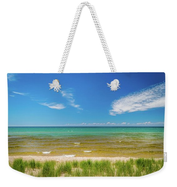 Beach With Blue Skies And Cloud Weekender Tote Bag