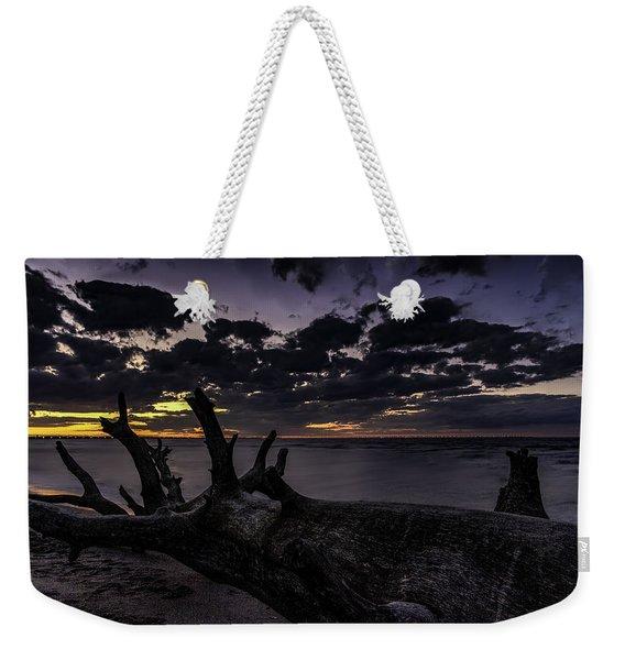Beach Wood Weekender Tote Bag