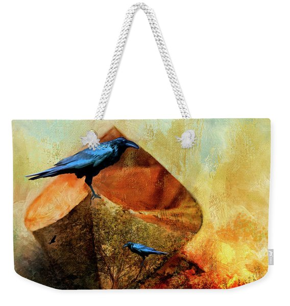 Beached Crow Weekender Tote Bag