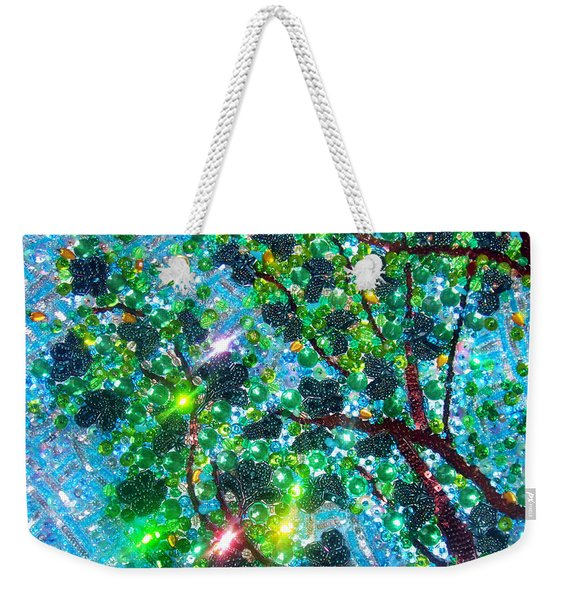 Bead Embroidery. Tree And Sky Weekender Tote Bag