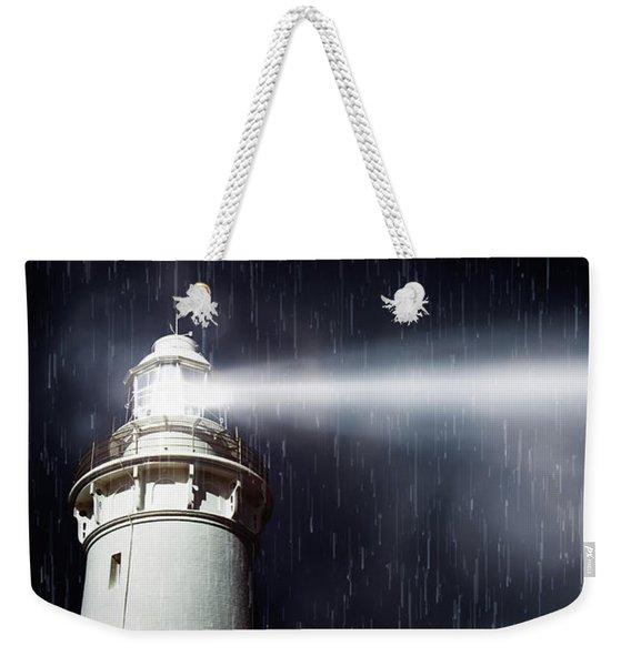 Beaming Lighthouse Weekender Tote Bag