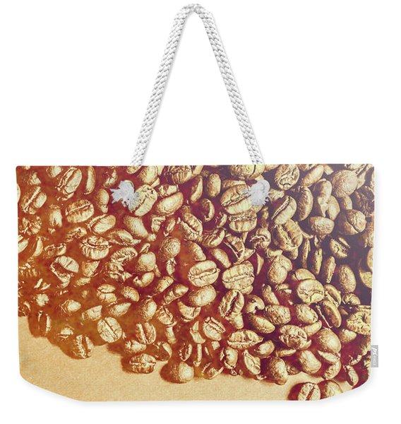 Bean Background With Coffee Space Weekender Tote Bag