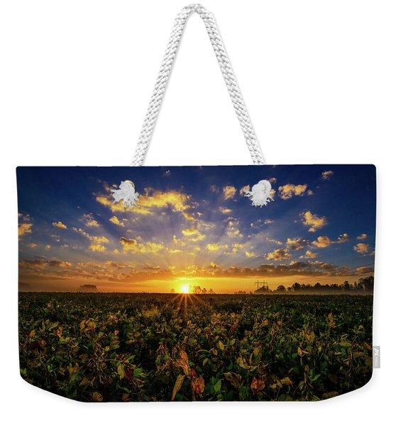 Bean Field Dawn Weekender Tote Bag
