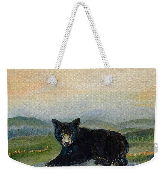 Bear Alone On Blue Ridge Mountain Weekender Tote Bag