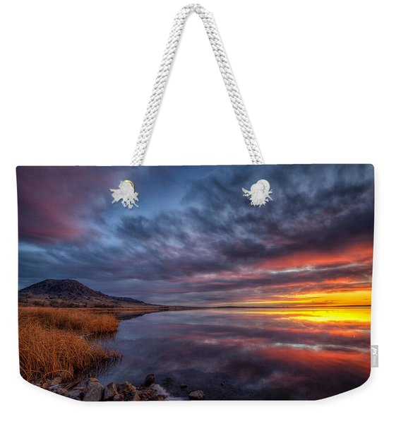 Bear Butte Lake Sunrise Weekender Tote Bag