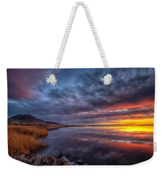 Bear Butte Lake Sunrise Weekender Tote Bag