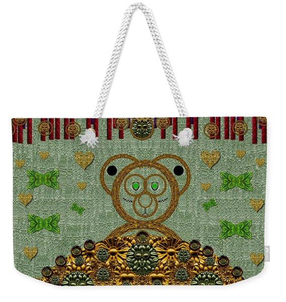 Bear In The Blueberry Wood Weekender Tote Bag