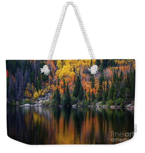 Bear Lake Autumn Reflections Weekender Tote Bag