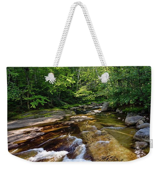 Weekender Tote Bag featuring the photograph Bear River, Newry, Maine #10045 by John Bald