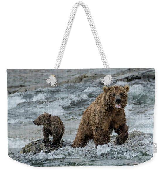 Bears Being Watchful  Weekender Tote Bag