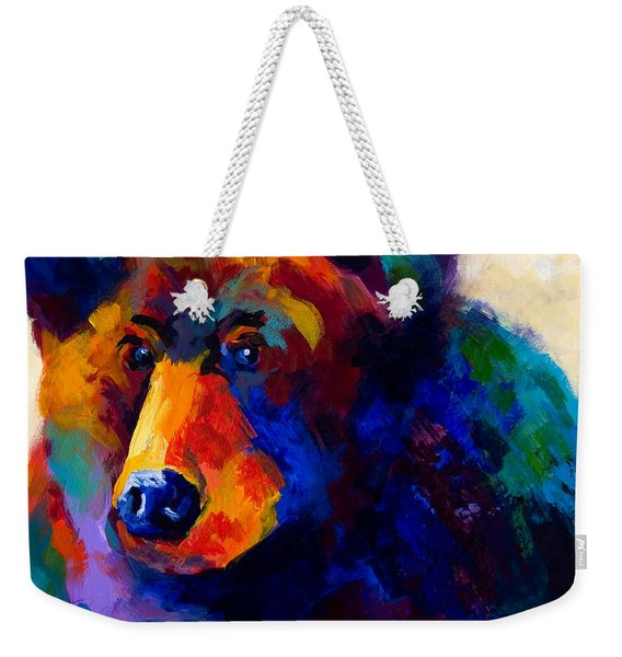 Beary Nice - Black Bear Weekender Tote Bag