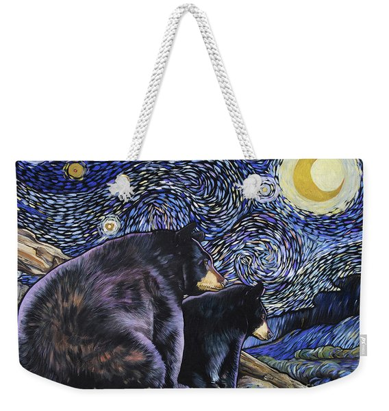 Beary Starry Nights Too Weekender Tote Bag