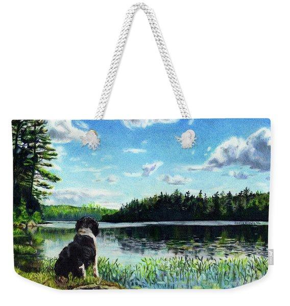 Beasley On Black Pond Weekender Tote Bag