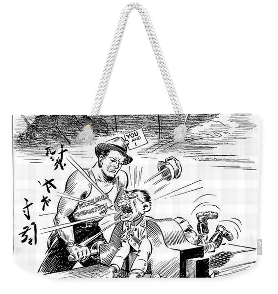 Beat Your Promise Cartoon  Weekender Tote Bag