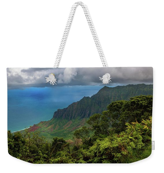 Beautiful And Illusive Kalalau Valley Weekender Tote Bag