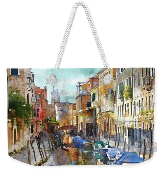 Beautiful Boats In Venice, Italy Weekender Tote Bag