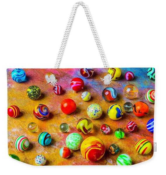 Beautiful Colored Glass Marbles Weekender Tote Bag