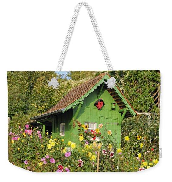 Beautiful Colorful Flower Garden Weekender Tote Bag